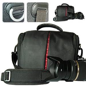 First2savvv black high quality professional digital camera case for Panasonic Lumix DMC-FZ72