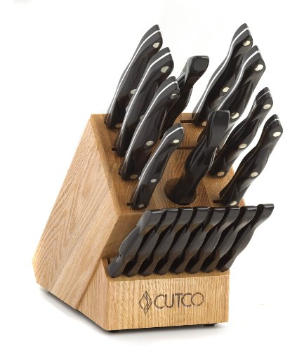 CUTCO Model 1818 Homemaker Set + 8 with #1725 full size chef knife...............18 High Carbon Stainless knives & forks with Classic Dark Brown (often called