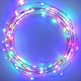 The Original Starry String Lights™ by Brightech - MultiColor LEDs on a Flexible Copper Wire - 20ft LED String Light with 120 Individually Mounted LED's - Set the Mood You Want Anywhere! - Perfect For Creating Instant Appeal in Any Setting - Parties - BBQs - Dances - or an Intimate Environment at Home
