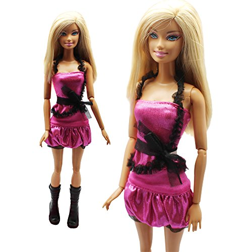 Fashion Evening Wedding Party Clothes Casual Dress Outfit Set For Barbie Doll Xmas Gift
