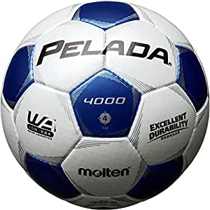 molten(モルテン) ペレーダ4000 [ Pelada4000 ] EXCELLENT DURABILITY 4号球 白+青 F4P4000-WB