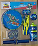 Toy Story Bike Accessories Set - Grips, Streamers, Bag, Bicycle Bell, & Spoke Decorations. Featuring Buzz Lightyear, Woody, and the Gang!