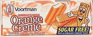 Voortman Sugar Free Orange Creme Wafers Cookies 9 Oz Pack Of 6