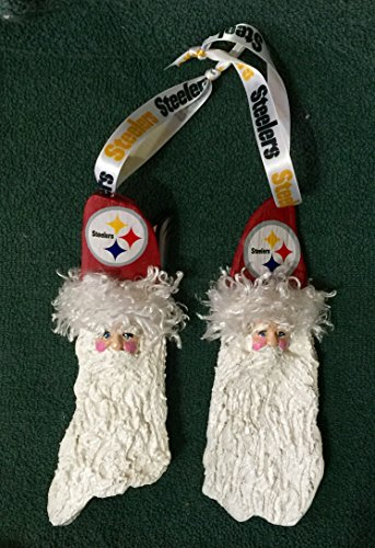Steelers Palm Frond Christmas Ornament