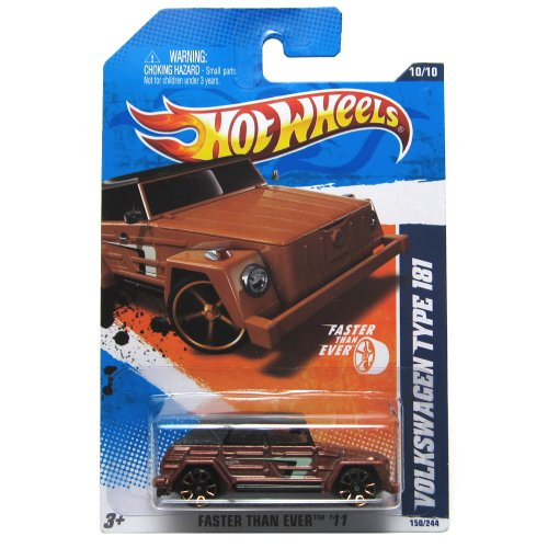2011 Hot Wheels Faster Than Ever Volkswagen Type 181 Brown #150/244