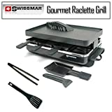 Swissmar KF-77041 Gourmet 8-Person Raclette Grill Bundle