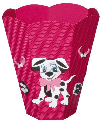 Bastelset Papierkorb – Dalmatiner Mülleimer rosa Hund jetzt bestellen