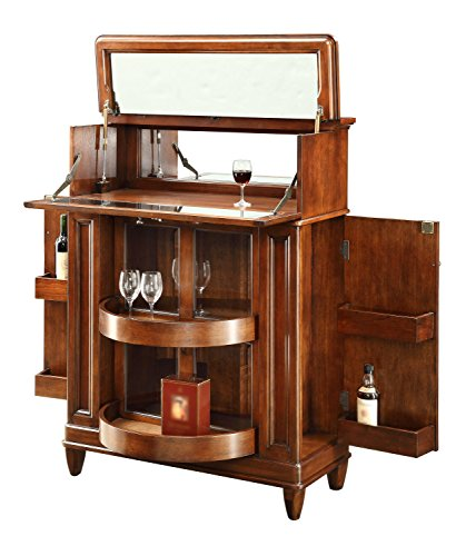 Pulaski jensen bar cabinet espresso brown my home Home bar furniture amazon