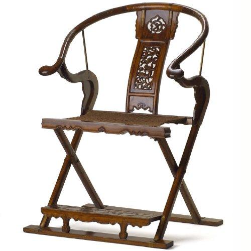 Folding Horseshoe Armchair, Warm Elm
