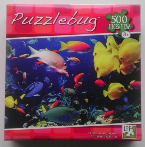PuzzleBug 500 Piece Puzzle Tropical Aquarium by LPF
