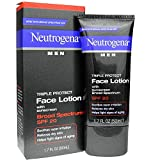 Neutrogena Men Triple Protect Face Lotion with Sunscreen SPF 20 1.70 oz (Pack of 2)