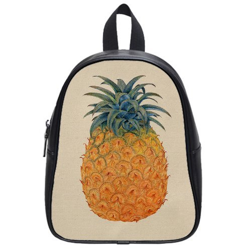 Anhome Print Nature Orange Pineapple Looks Delicious Custom School Bag/Backpack front-1002267