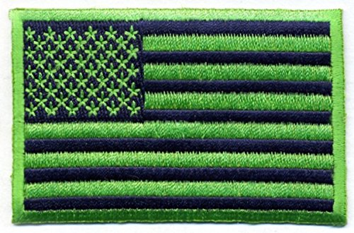 Blue-Green-US-Flag-Patch-Velcro-or-Iron-on