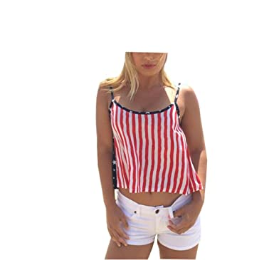 Threadrock Women/'s 4th of July National Blow Stuff Up Day Racerback Tank Top