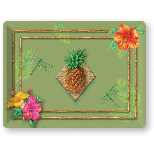 "Plastic Tray 14"" X 10"" Tahiti Tropics"