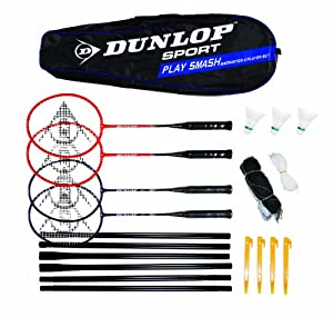 Click here to buy Dunlop Play Smash 4 Player Badminton Set by Dunlop.