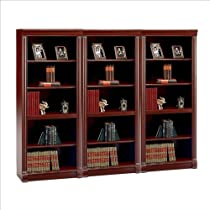 Hot Sale Bush Birmingham 5 Shelf Wall Bookcase in Harvest Cherry