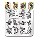 Summer Fruit Nail Art Stamping Template Tropical Punch Pattern Rectangle Image Plate Stamping Polish Needed BP-X43 (Color: BP-X43)