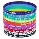 Caroline Lisfranc - Set de 10 bracelets silicone La vie est Belle