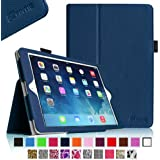 Fintie Apple iPad Air Folio Case - Slim Fit Leather Smart Cover with Auto Sleep / Wake Feature for iPad Air 5 (5th Generation) - Navy