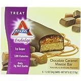 Atkins Endulge Chocolate Caramel Mousse Bar, 5 - 1.2 oz. Bars (Pack of 2)