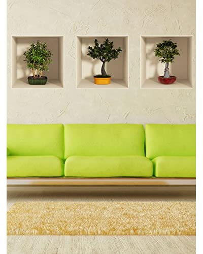 Ambiance Live Vinile Adesivo  col-3d-bonsai Multicolore