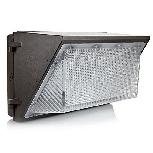 LED 90W Wall Pack Light, Hyperikon, 400-600W HPS/HID Replacement, 5000K (Crystal White Glow), 7600 Lumens, Waterproof and Outdoor Rated, LightingFacts and DLC-Qualified, UL-Listed