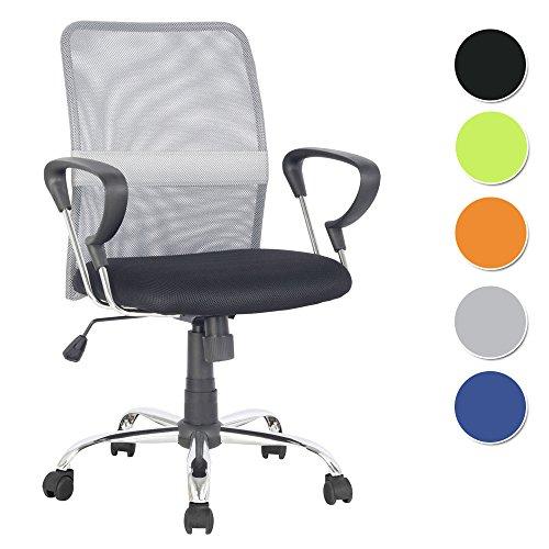 SixBros. Poltrona sedia ufficio sedia girevole grigio/nero - H-8078F-2/2060