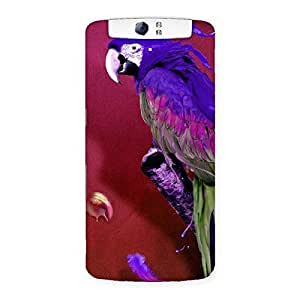 Cute Magic Parrot Multicolor Back Case Cover for Oppo N1