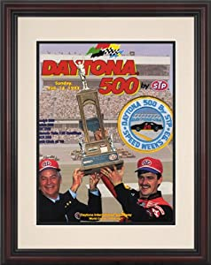 NASCAR Framed 8.5 x 11 Daytona 500 Program Print Race Year: 35th Annual - 1993 by Mounted Memories