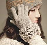 【 カラー 選択可 】あったか フリル 手袋 レディース ( ウール & アンゴラ ) 秋 冬 防寒 防雪 手袋