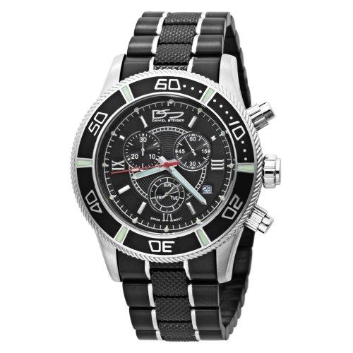 Daniel Steiger Men's 2086-M Swiss Quartz Chronograph Black Watch