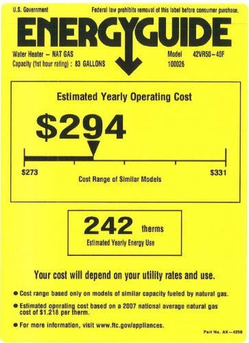 Review Of Rheem 42vr50 40f High Efficiency Gas Water Heater