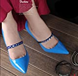Plinrise Strapers Women's Detachable Shoe Straps,High Heels Anti-loose Shoelace Accessories (Rhinestone-blue)