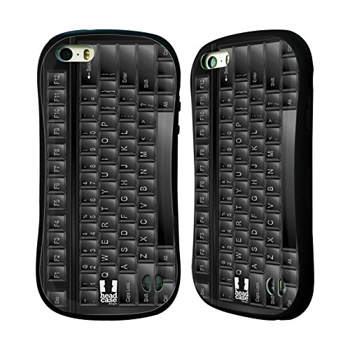 Head Case Designs キーボード キー ハイブリッドケース Apple iPhone 5 / 5s / SE