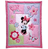 Disney Minnie Mouse 4-piece Crib Bedding Set No Bumper