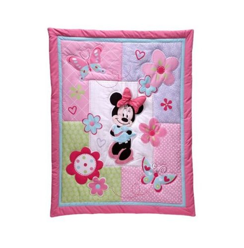 Disney Minnie Mouse 4-piece Crib Bedding Set No Bumper - 1