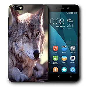 Snoogg Abstract Dog Printed Protective Phone Back Case Cover For Huawei Honor 4X
