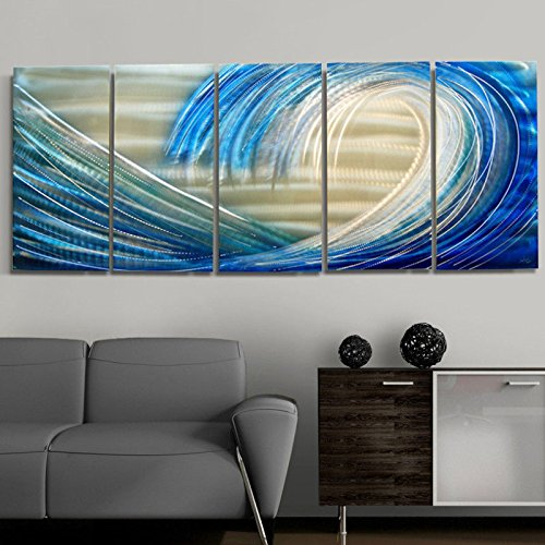 Shoot the Curl Abstract Wall Painting Decor by Artist Jon Allen