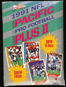 1991 Pacific Plus II NFL Pro Football (Series 2) Cards Box of 36 Unopened Packs