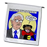 fl_2786_1 Rich Diesslins Funny General - Editorial Cartoons - George Soros and Triumph the Insult Comic Dog - Flags - 12 x 18 inch Garden Flag