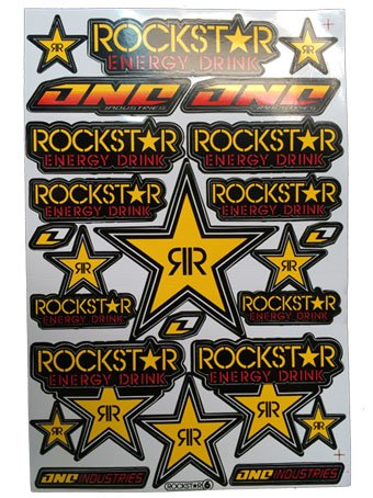 Rockstar Energy Drink Racing Sticker Decal for Helmet Motocross Bike ATV #4 (Monster Energy Dirt Bike compare prices)