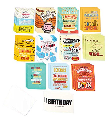 Slightly Risque Birthday Cards, 36 Cards & 36 Envelopes, (Bulk Packaging). Funny (adult) Birthday Card Set Made in the USA on Recycled Paper christmas envelopes sticker and pop up cards set 1set 10pcs cards 10pcs envelopes 1 sheet seal sticker