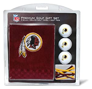 NFL Washington Redskins Embroidered Golf Towel (3 Golf Balls 12 Tee Gift Set) by Team Golf