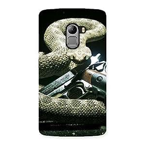 Impressive Gun And Rattle Snake Back Case Cover for Lenovo K4 Note