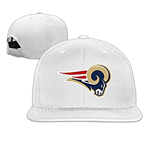 ElishaJ Flat Bill New England Sport Rams Mixed Baseball Cap Hat White