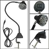 "LED Task Sewing Light Gooseneck Lamp Bendable Steel 22"", C-clamp Table Mounted, 110v + 28 LED Light"