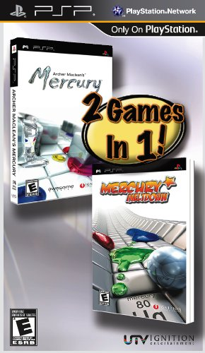 Archer Maclean's Mercury and Mercury Meltdown 2 - Pack - Sony PSP