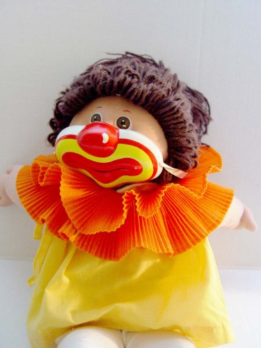 Vintage Cabbage Patch Kids Clown Collar and Mask