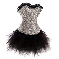 Forever Young Burlesque Moulin Rouge Fancy Dress Costume Corset Can Can Costume 8 10 12 14 16